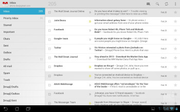 Email apps - Asus MeMO Pad Smart 10 Review