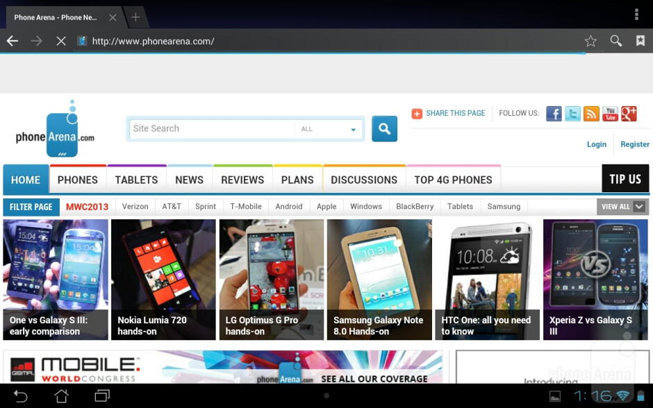 The Asus MeMO Pad Smart 10 is quite effective in the web browsing department - Asus MeMO Pad Smart 10 Review