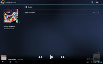 The Google Play Music app - Asus MeMO Pad Smart 10 Review