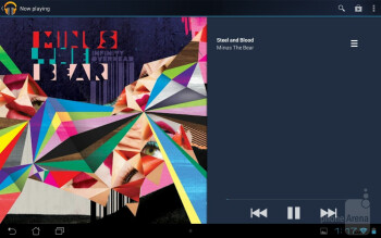The Google Play Music app - Asus MeMO Pad Smart 10 Review