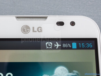 Front cam and speaker - LG Optimus G Pro Review