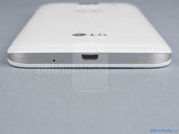microUSB port (bottom) - The sides of the LG Optimus G Pro - LG Optimus G Pro Review