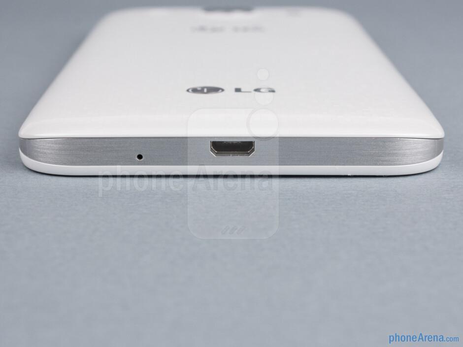 microUSB port (bottom) - The sides of the LG Optimus G Pro - LG Optimus G Pro Review