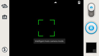 Camera interface of the LG Optimus G Pro - LG Optimus G Pro vs Samsung Galaxy S III
