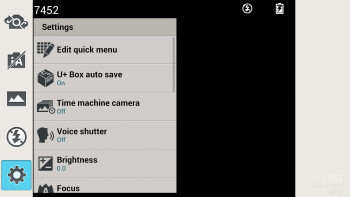 Camera interface - LG Optimus G Pro Review