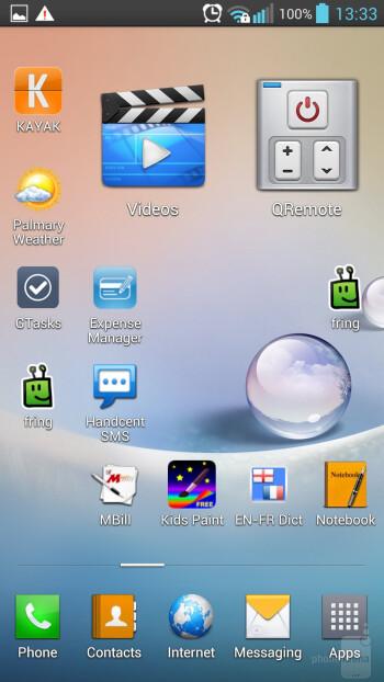 The Optimus UI of LG Optimus G Pro - Samsung Galaxy S4 vs LG Optimus G Pro