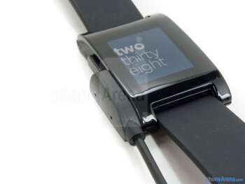 The face of Pebble is a 144x168 e-paper display - Pebble Smart Watch Review