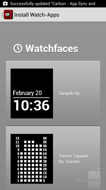 The watch interface is simple - Pebble Smart Watch Review