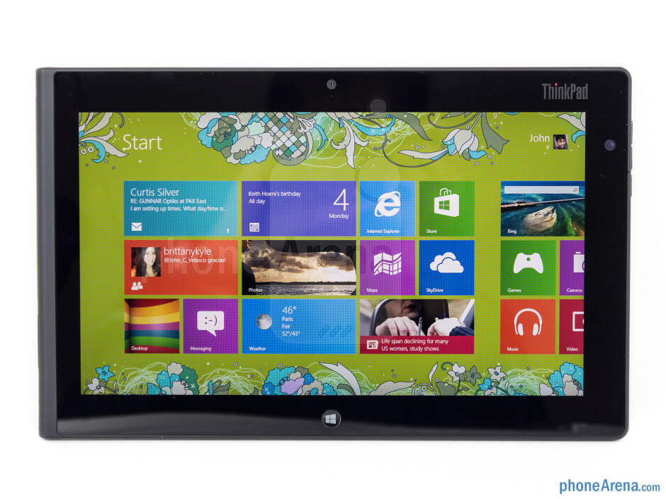 The 10.1-inch display is pleasant enough - Lenovo ThinkPad Tablet 2 Review