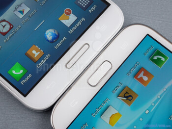 Android buttons - The LG Optimus G Pro (left) and the Samsung Galaxy Note II (right) - LG Optimus G Pro vs Samsung Galaxy Note II