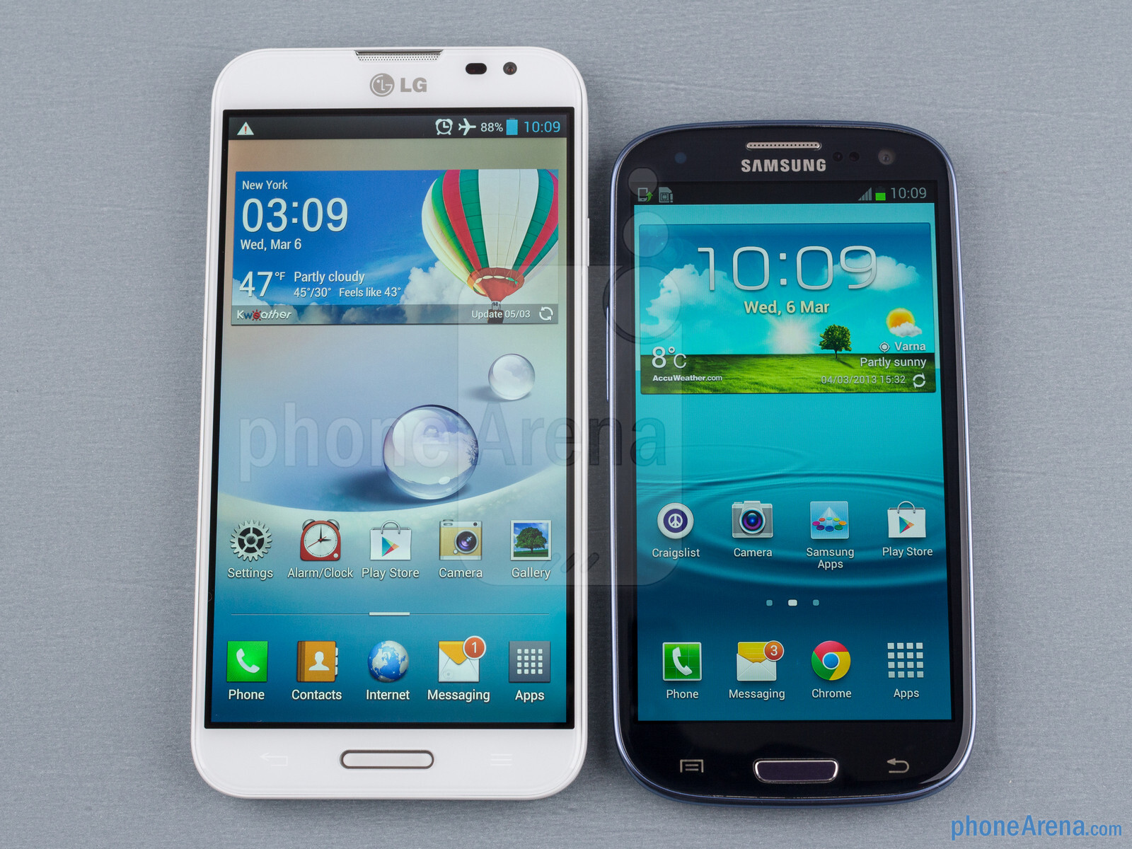 LG Optimus G Pro vs Samsung Galaxy S III
