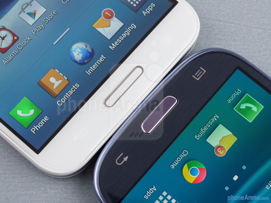 The LG Optimus G Pro (left) and the Samsung Galaxy S III (right) - LG Optimus G Pro vs Samsung Galaxy S III