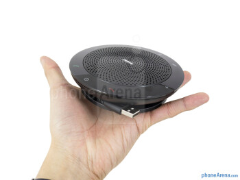 Due to its UFO-like cylindrical shape, the Jabra Speak 510 definitely stands out - Jabra Speak 510 Review