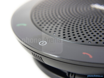 Capacitive buttons - Various LED lights line the outer edge of the speaker grill - Jabra Speak 510 Review
