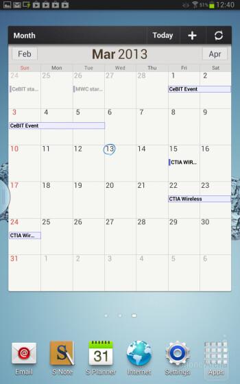 The interface of the Samsung Galaxy Note 8.0 - Samsung Galaxy Note 8.0 vs Apple iPad mini