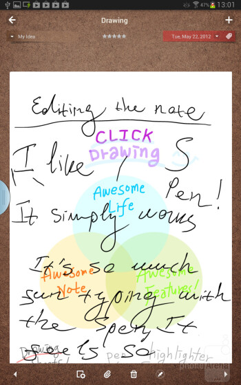 There's a lot of custom software on the Note 8.0 which makes handwriting work very well - Samsung Galaxy Note 8.0 vs Apple iPad mini