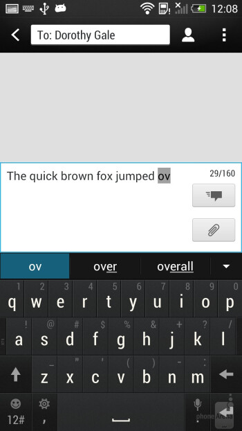 HTC One - On-screen keyboard - HTC One Google Play Edition vs HTC One