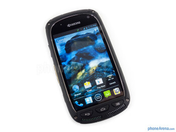 Front - The Kyocera Torque is relatively small - Kyocera Torque Review