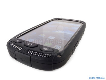 Android buttons - The Kyocera Torque is relatively small - Kyocera Torque Review
