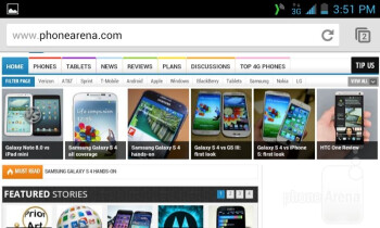 Web browser of the Kyocera Torque - Kyocera Torque Review