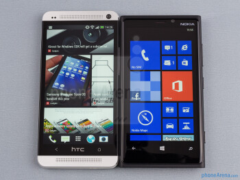 The HTC One (left) and the Nokia Lumia 920 (right) - HTC One vs Nokia Lumia 920
