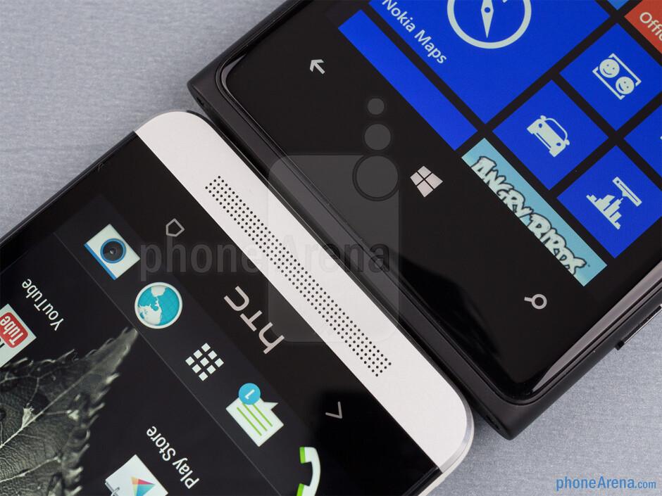 The HTC One (left) and the Nokia Lumia 920 (right) - HTC One vs Nokia Lumia 920