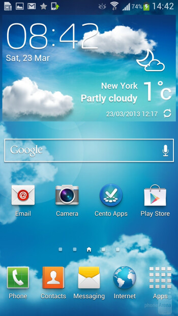 Interface of the Samsung Galaxy S4 - Samsung Galaxy S5 vs Samsung Galaxy S4