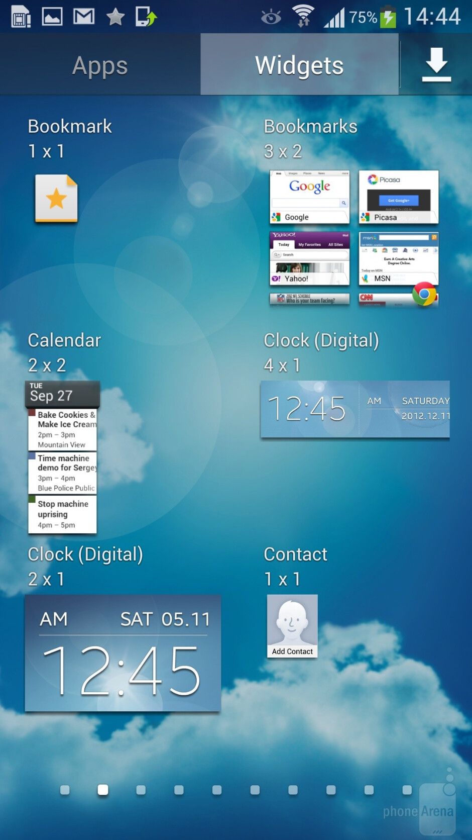 Interface of the Samsung Galaxy S4 - Sony Xperia Z1 Compact vs Samsung Galaxy S4