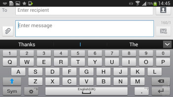 Samsung Galaxy S4's default QWERTY keyboard layout - Samsung Galaxy S4 Review