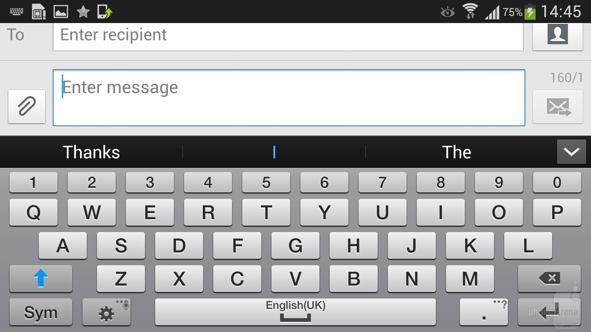 Keyboard Locale Linux Samsung Galaxy S Review Messaging