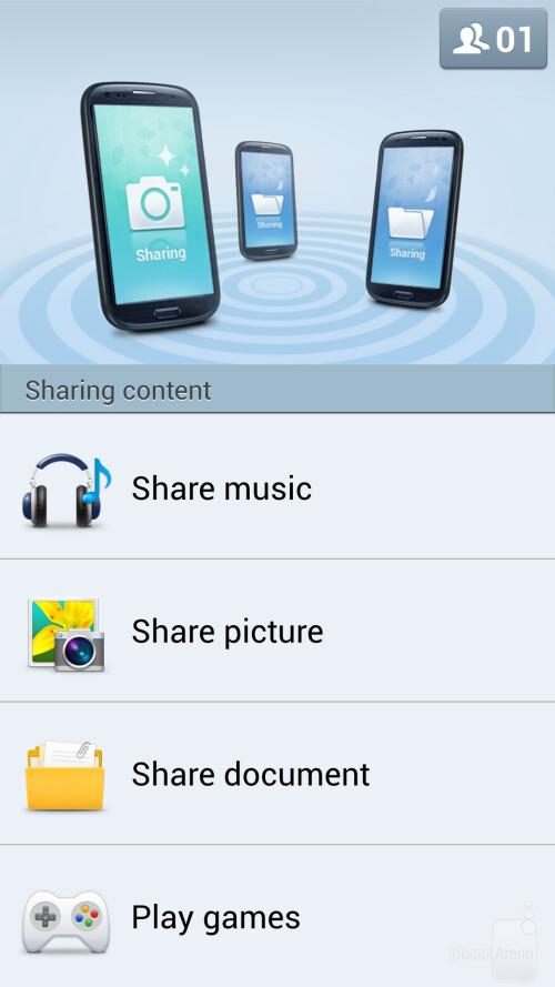 Samsung Galaxy S4 screenshots