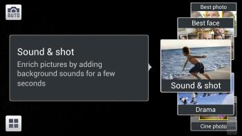 Camera interface of the Samsung Galaxy S4 - Google Nexus 5 vs Samsung Galaxy S4