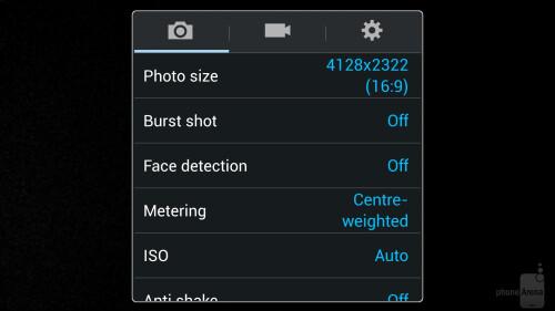 Galaxy S4 Camera UI