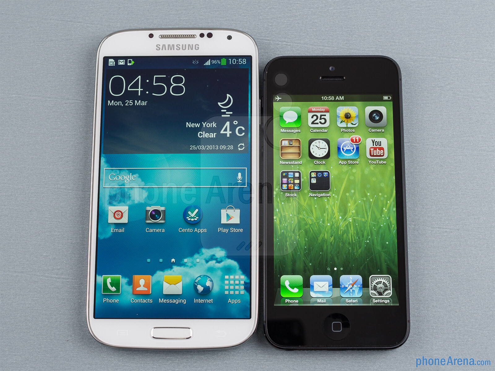 iphone 4 vs galaxy s4