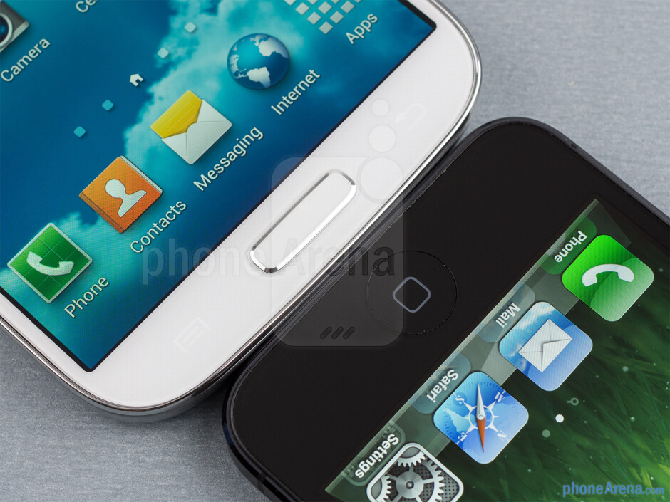 The Samsung Galaxy S4 (left) and the Apple iPhone 5 (right) - Samsung Galaxy S4 vs Apple iPhone 5