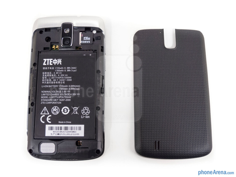 Battery cover removed - The sides of the Sprint Force - Sprint Force Review
