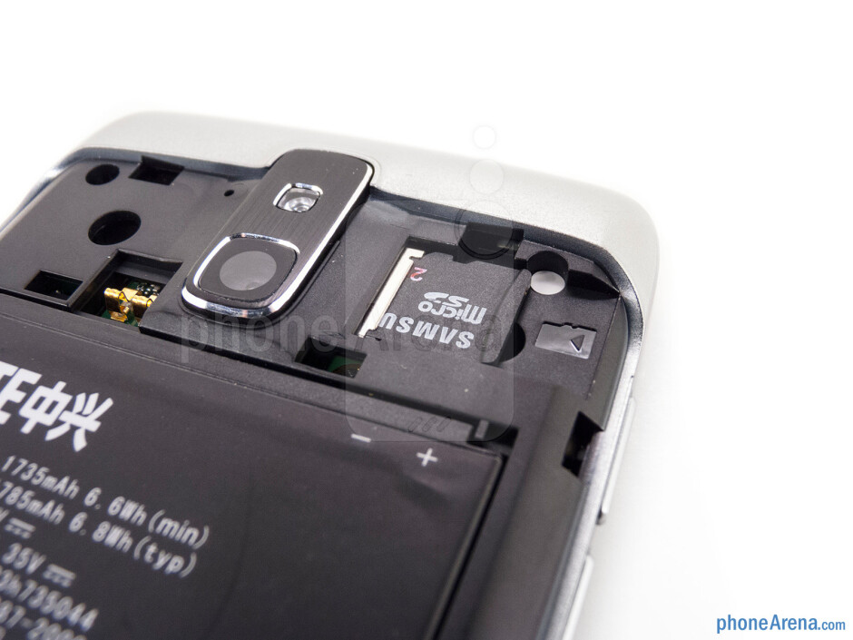 microSD card slot - The sides of the Sprint Force - Sprint Force Review