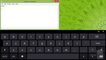 The on-screen keyboard - Acer Iconia W511 Review