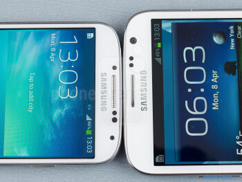 The Samsung Galaxy S4 (left) and the Samsung Galaxy Note II (right) - Samsung Galaxy S4 vs Samsung Galaxy Note II