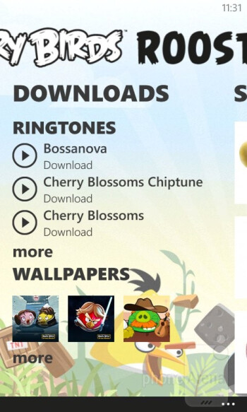 Angry Birds Roost app - Nokia Lumia 520 Review