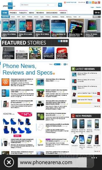 Browsing the web on the Nokia Lumia 520 - Nokia Lumia 520 Review
