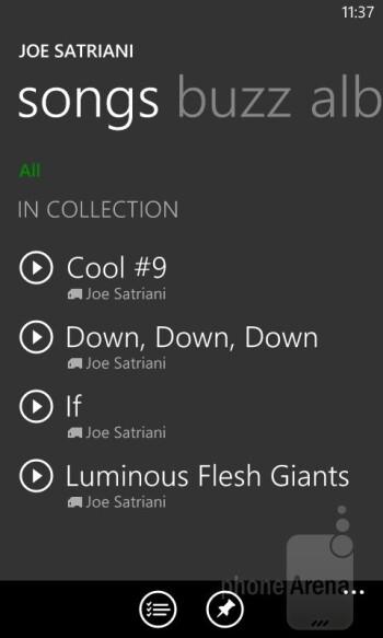 Playing music on the Lumia 520 - Nokia Lumia 520 Review