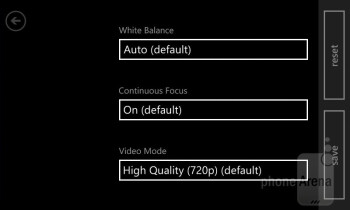 The camera interface of the Lumia 520 - Nokia Lumia 520 Review