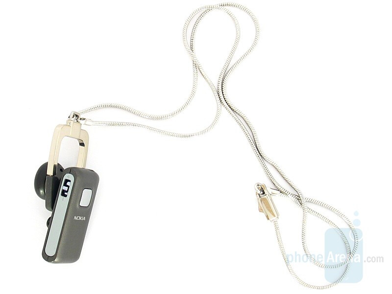 The neck-strap attached - Box Content - Nokia BH-800 Bluetooth Headset Review