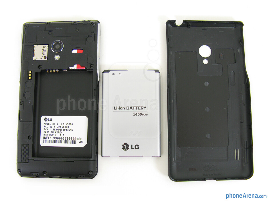 Battery compartment - The sides of LG Lucid 2 - LG Lucid 2 Review