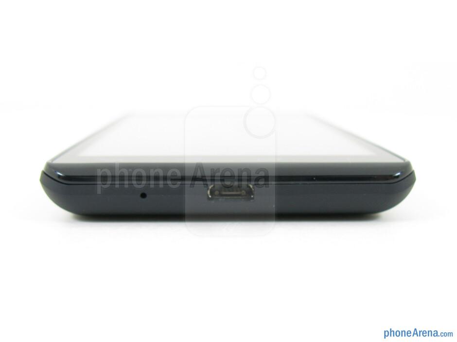 microUSB port (bottom) - The sides of LG Lucid 2 - LG Lucid 2 Review