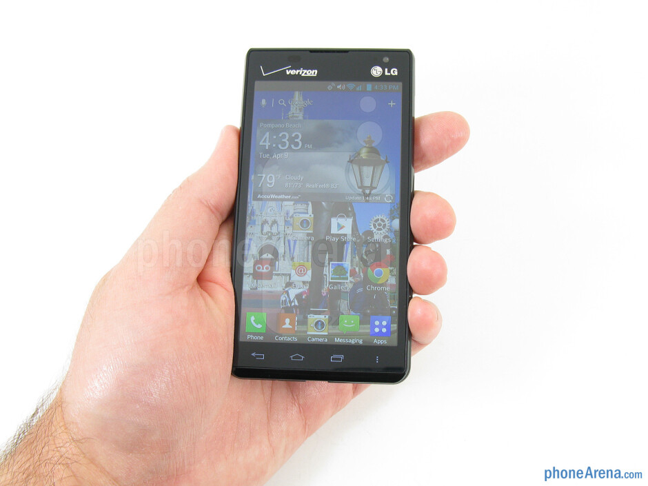 The LG Lucid 2 fits comfortably in the hand - LG Lucid 2 Review