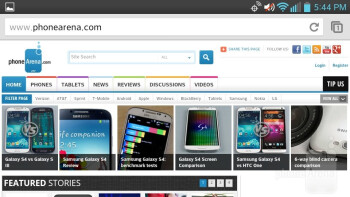 The LG Lucid 2 relies on Google Chrome for its web browser - LG Lucid 2 Review