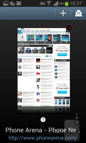 The browser of the Samsung Galaxy S II Plus - Samsung Galaxy S II Plus Review