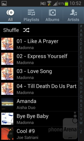 The music player on the Galaxy S II Plus comes with a few very neat additional features - Samsung Galaxy S II Plus Review